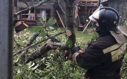 Вітер валив дерева і знімав дахи: в Росії в результаті урагану загинули три людини