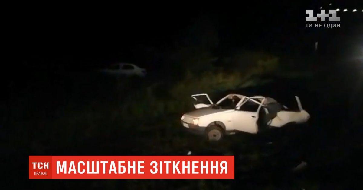 Пьяный водитель устроил масштабное ДТП на трассе Киев-Чоп