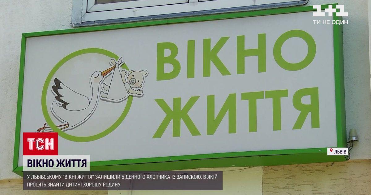 """Новости Украины: в львовском """"окне жизни"""" оставили 5-недельный ребёнок"""