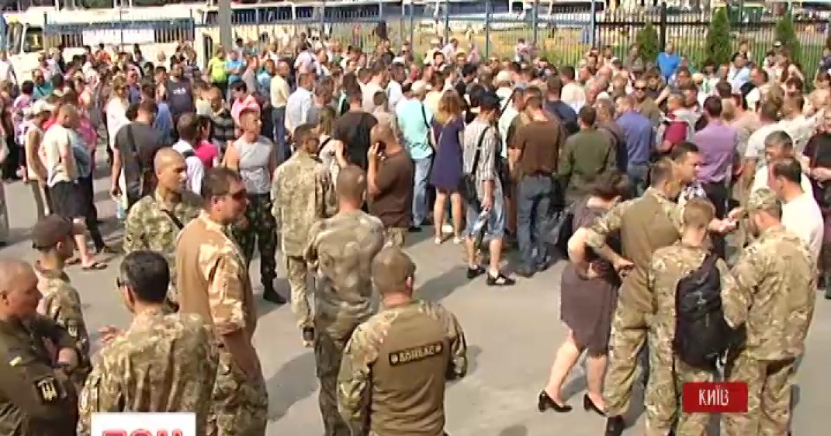В столице маршруточники протестовали против Государственной транспортной компании