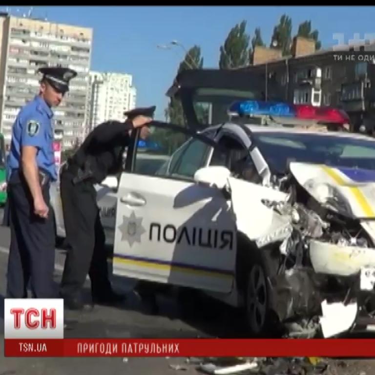 В полиции Киева пообещали выводы из аварий патрульных машин