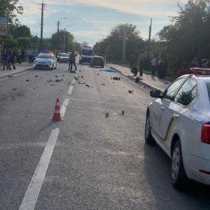 Авто на шаленій швидкості збило на смерть 13-річного скутериста, що того підкинуло у повітрі - відео моменту ДТП