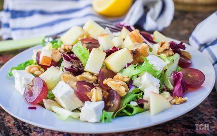 Салат із фетою і виноградом: вишуканий рецепт