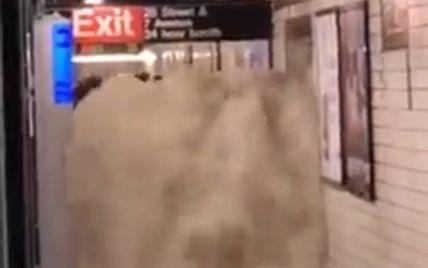 Хлынул настоящий водопад: в Нью-Йорке масштабные наводнения затопили метро