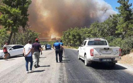У Туреччині розслідують причини масштабних лісових пожеж, які спалахнули у курортній Анталії