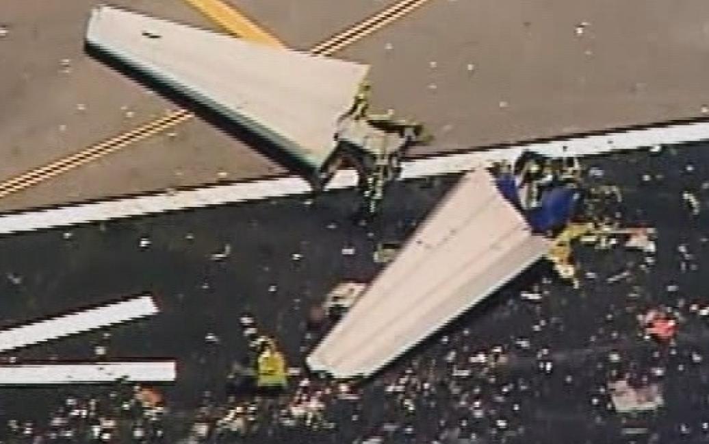 Фото с места катастрофы самолета / © twitter.com