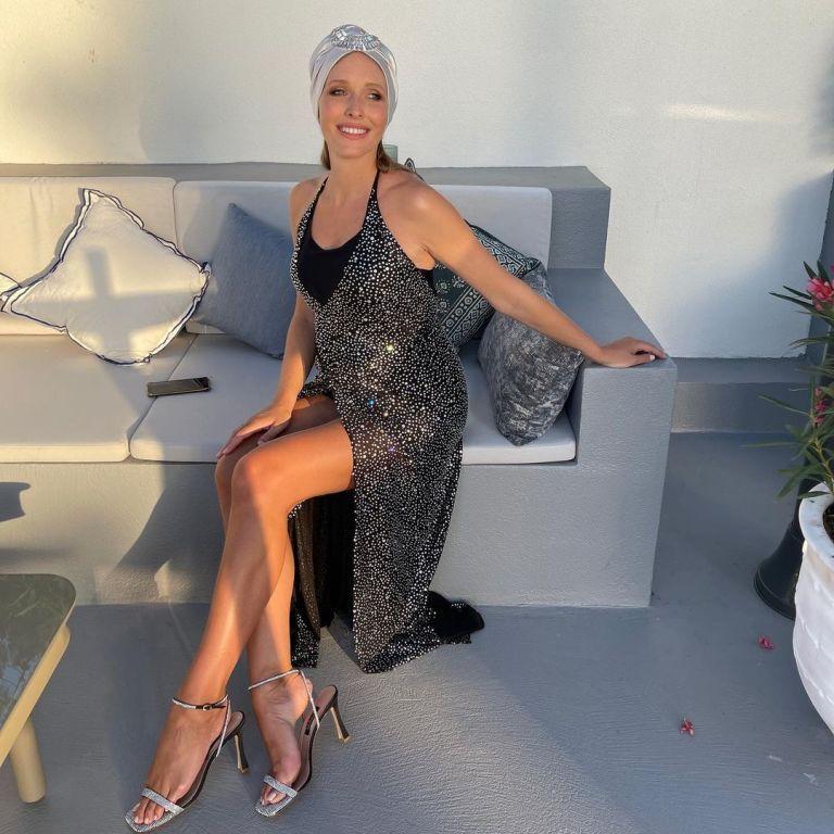 У вечірній сукні і тюрбані: вагітна Катя Осадча показала фігуру