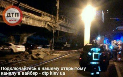 Перекритий рух і десятки рятувальників: у Києві розбирають обвал Шулявського шляхопроводу