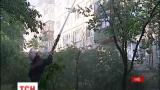 В Киеве горела крыша пятиэтажки