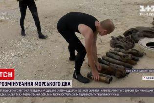 Новини України: поблизу берегів Лебедівки водолази дістають снаряди з затонулого німецького судна