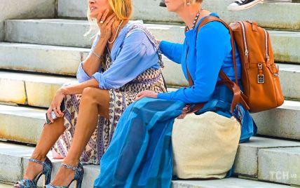 Стильні подруги: Сара Джессіка Паркер і Синтія Ніксон на зніманнях в Нью-Йорку