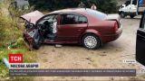 """Новости Украины: на трассе """"Киев-Чоп"""" во время тумана на перевале столкнулось четыре автомобиля"""