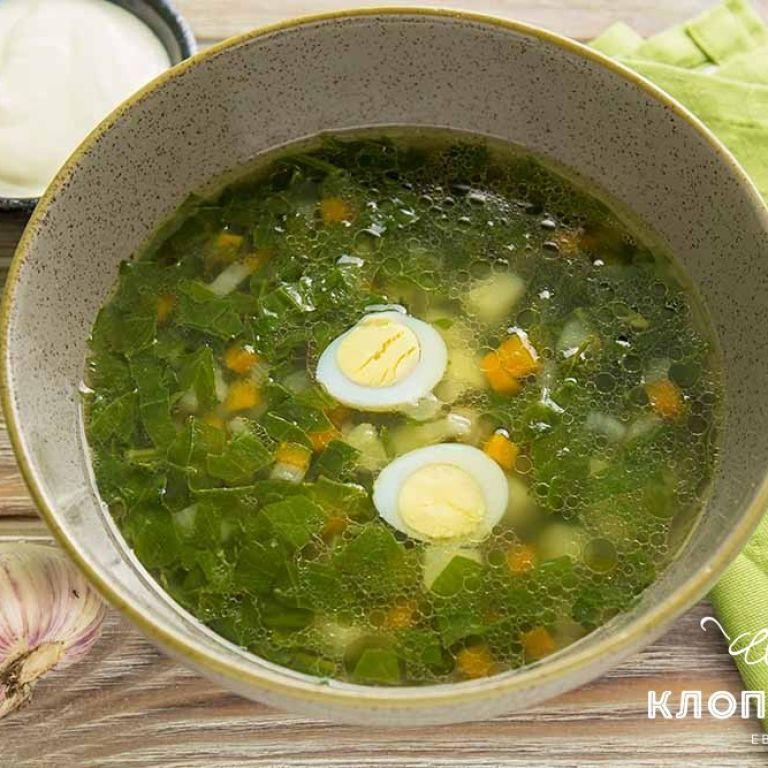 Зеленый борщ со шпинатом: рецепт от Евгения Клопотенко