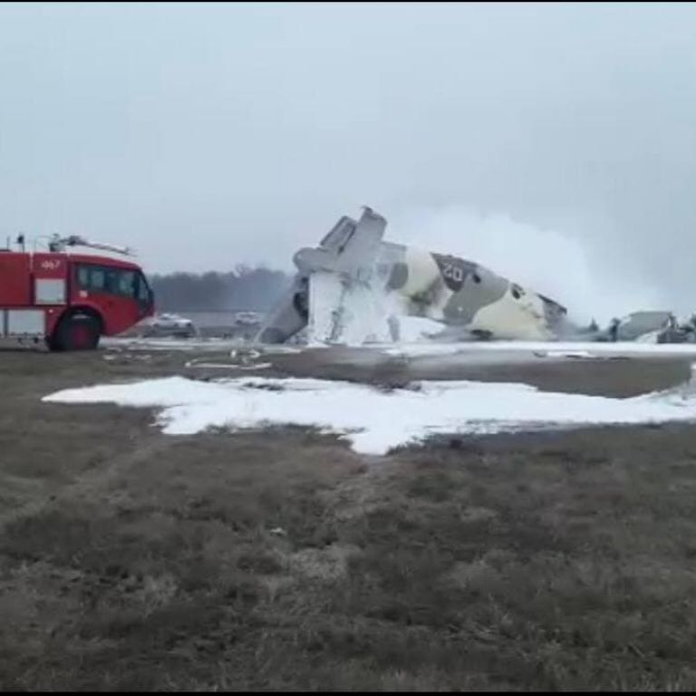У Казахстані під час посадки розбився військовий літак Ан-26: є загиблі