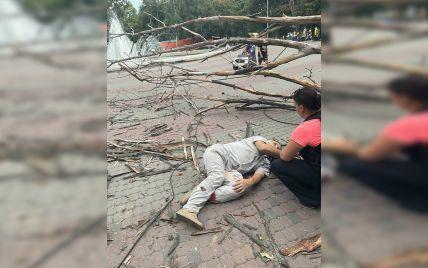 """""""Добре, що хоч живий залишився"""": у Дніпрі на чоловіка впало сухе дерево і зламало йому обидві ноги (фото)"""