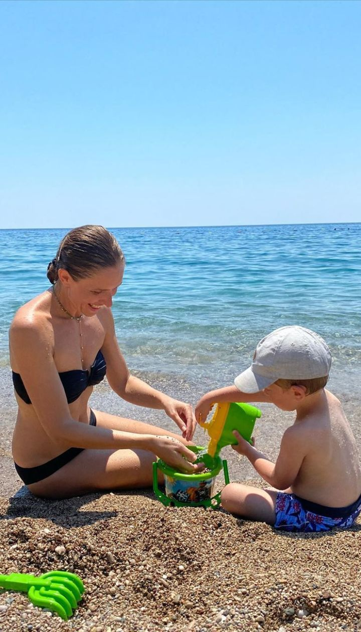 Катя Осадча з сином / © Instagram Кати Осадчей