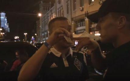 В Киеве пьяный немецкий дипломат чуть не наехал на полицейских (видео)