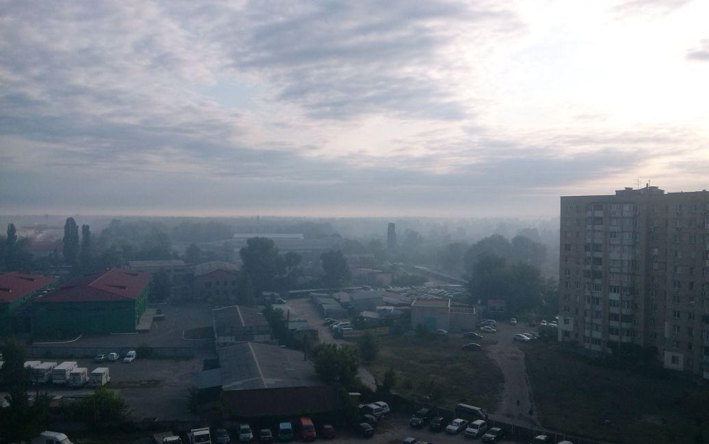 ДВРЗ затянуло дымом / © ТСН.ua