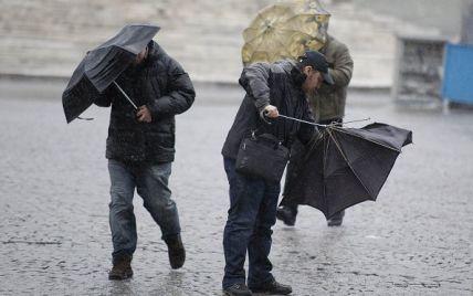 Непогода ударит по Украине ливнями, ураганами и подтоплениями