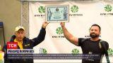 Новости Украины: 33-летний спортсмен поднял 260 килограммов одной рукой