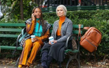 """Знімання не закінчені: Синтія Ніксон під час роботи над новим епізодом """"Сексу і міста"""""""