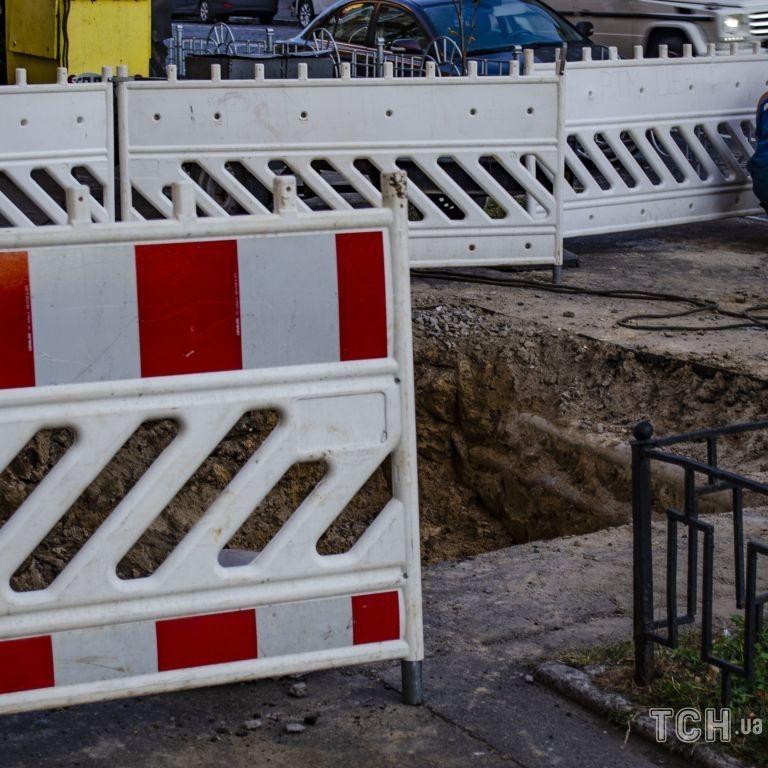 У Києві на водопроводі сталася аварія - перекрито рух проспектом