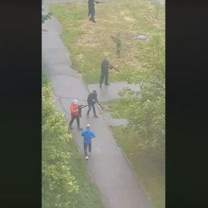 Поліція встановлює обставини стрілянини в Броварах, місцеві публікують відео перестрілок