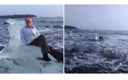 """Американська пенсіонерка випадково попливла геть на """"крижаному троні"""""""