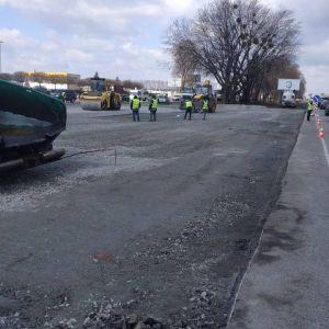 Київ розпочав ремонт Кільцевої дороги: фото