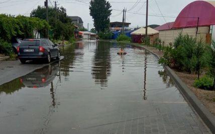 """""""Хоч тут медуз немає"""": у Генічеську люди плавають на вулицях після зливи (фото)"""