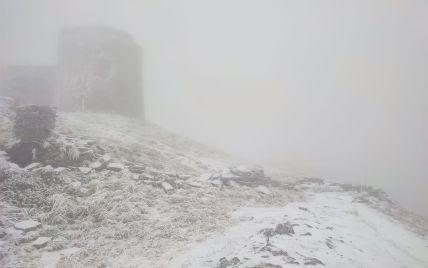 В Україні випав перший сніг: фото
