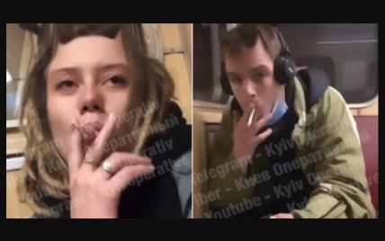 Локдаун у Києві: підлітки влаштували небезпечні розваги у вагоні метро (відео)