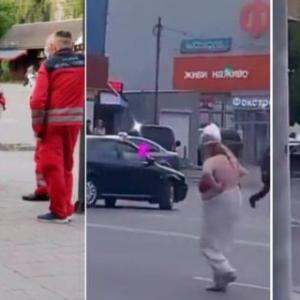 """""""А, что я не имею права"""": по улице в Ивано-Франковске гуляла полуобнаженная женщина"""