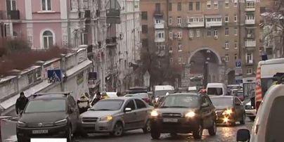 Авто с мертвым водителем устроило ДТП возле Администрации президента