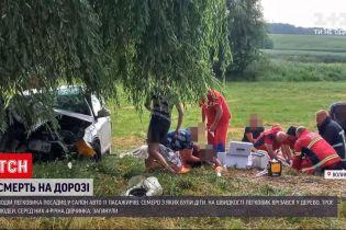 Новини України: на Волині водій на швидкості увігнався у дерево, 3 людей загинуло