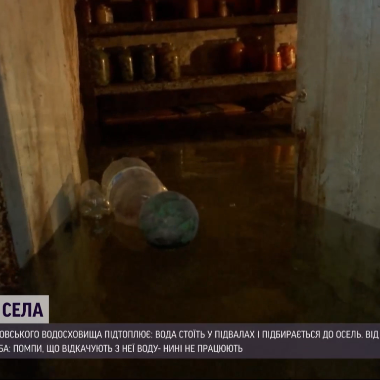 Через зламані помпи на Запоріжжі підтопило одразу три населені пункти