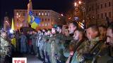 У Києві на передову проводжали бійців полку «Азов»