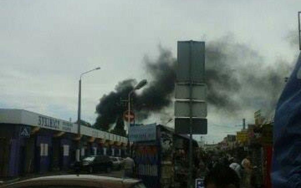Пожар уже потушили / © facebook.com/Vitaliy Selyk