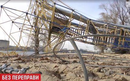 У Києві невідомі знищили популярну канатну переправу над Дніпром