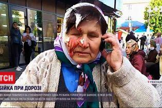 Новини України: у Костополі жінка розбила банку сметани об голову бабусі-продавчині