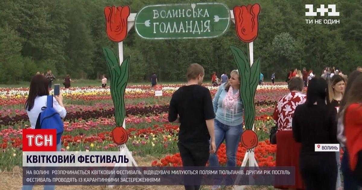 Новости Украины: на Волыни готовятся к открытию ежегодного цветочного фестиваля