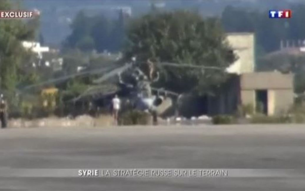 Военная техника попала в кадр / © My TF1 News