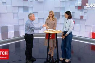 Телеведущая Лидия Таран и корреспондент ТСН.Тиждень в прямом эфире попробовали червей