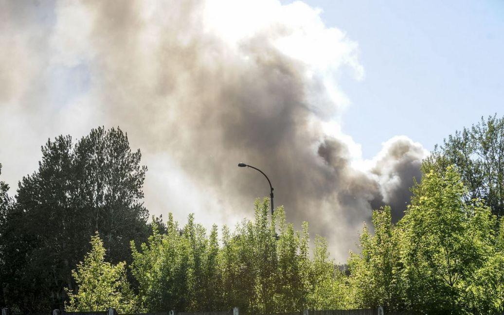 В Эстония произошел пожар на химзаводе / © limon.postimees.ee