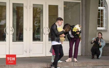 Фронтмен O.Torvald Галич забрал жену с сыном Данилом из роддома