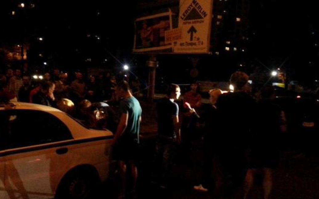 В ДТП на Героев Сталинграда столкнулись 5 машин. / © twitter/auto_kiev