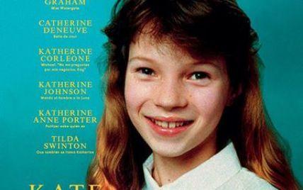 Фотографию 10-летней Кейт Мосс поместили на обложку глянца