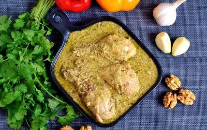 Сациви из куриных ножек — вкусное мясо с ореховым соусом