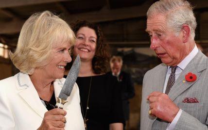 Герцогиня Корнуольская Камилла напугала принца Чарльза острым ножом