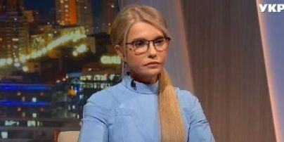 В голубом обтягивающем платье: Юлия Тимошенко в нежном образе пришла на телепередачу
